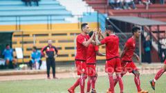 Indosport - Seleberasi goal Jaimerson.
