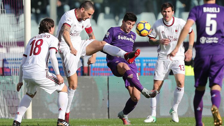Fiorentina vs AC Milan Copyright: INDOSPORT