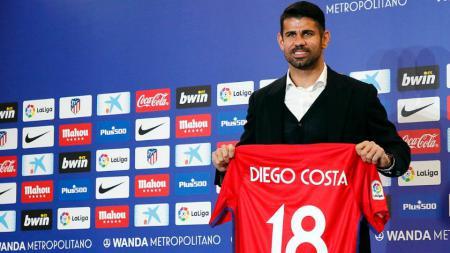 Diego Costa resmi diperkenalkan Atletico Madrid. - INDOSPORT