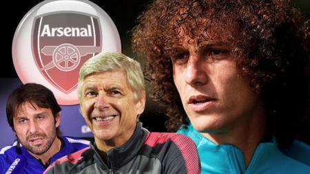David Luiz dirumorkan akan hijrah ke kubu rival, Arsenal. - INDOSPORT