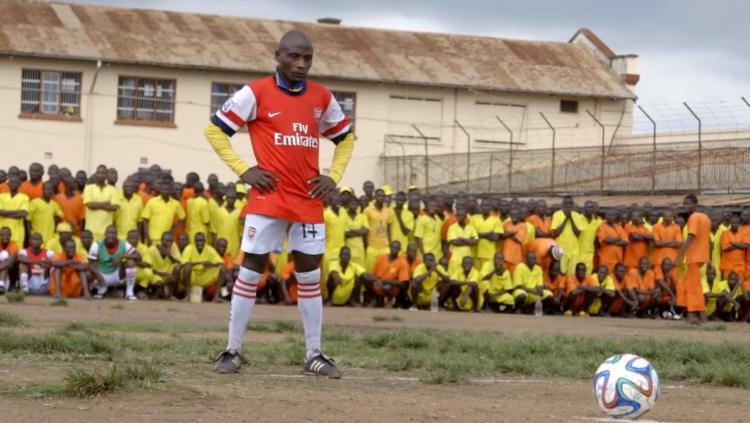 Tim sepakbola yang berasal dari penjara di Uganda. Copyright: vice.com