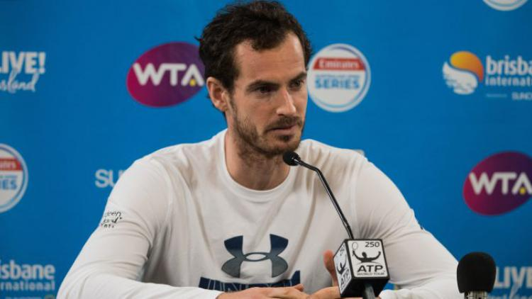 Andy Murray mundur dari Brisbane Open 2018. Copyright: Brisbane International.