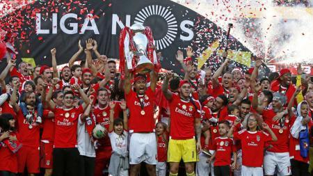 Benfica saat merayakan kemenangan. - INDOSPORT