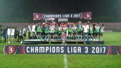 Indosport - Persik Kendal, saat menjadi juara Liga 3 2017.