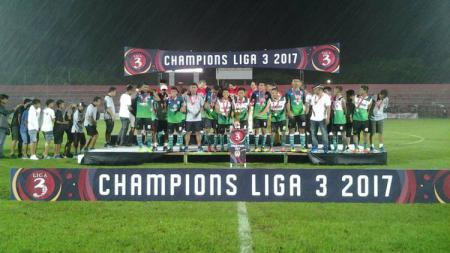 Persik Kendal, saat menjadi juara Liga 3 2017. - INDOSPORT
