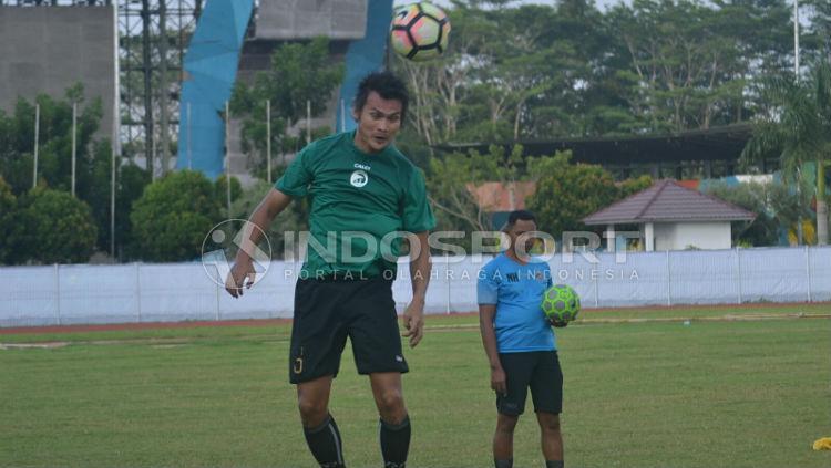 Bobby Satria saat berlatih bersama Sriwijaya FC Copyright: Muhammad Effendi/INDOSPORT