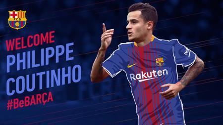 Philippe Coutinho resmi ke Barcelona. - INDOSPORT