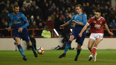Momen di laga Nottingham Forest vs Arsenal. - INDOSPORT