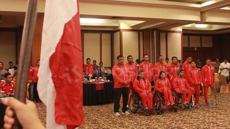 Pelepasan kontingen paralimpik Indonesia untuk Asian Para Games 2018. - INDOSPORT