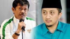 Indosport - Indra Sjafri dan Yusuf Mansur.