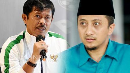 Indra Sjafri dan Yusuf Mansur. - INDOSPORT