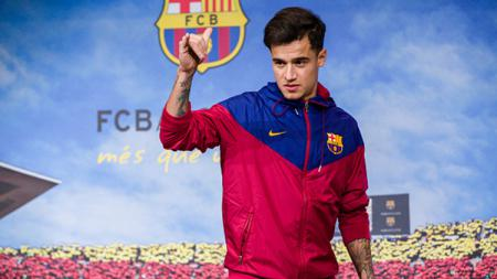 Philippe Coutinho resmi diperkenalkan Barcelona. - INDOSPORT