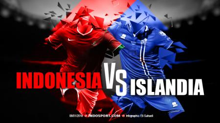 Indonesia vs Islandia. - INDOSPORT