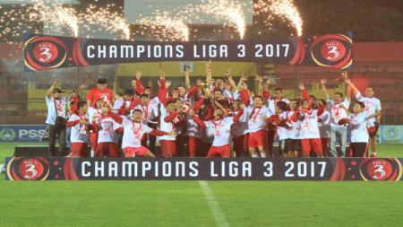 Blitar United saat menjuarai Liga 3 2017. - INDOSPORT