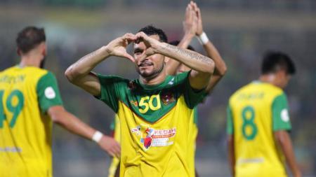 Pemain Kedah FA, Sandro da Silva Mendonca. - INDOSPORT