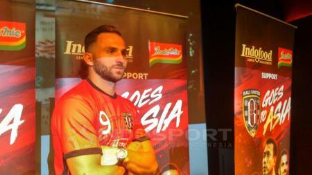 Ilija Spasojevic dalam acara penentuan sponsor utama Bali United untuk Liga Champions Asia. - INDOSPORT