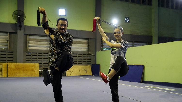 Menpora tinjau Pelatnas Wushu. Copyright: Kemenpora