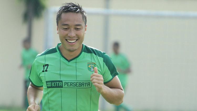 Arthur Irawan, menjalani trial bersama Persebaya. Copyright: Official Persebaya