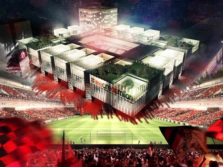 Desain stadion baru AC Milan. Copyright: dailymail.co.uk