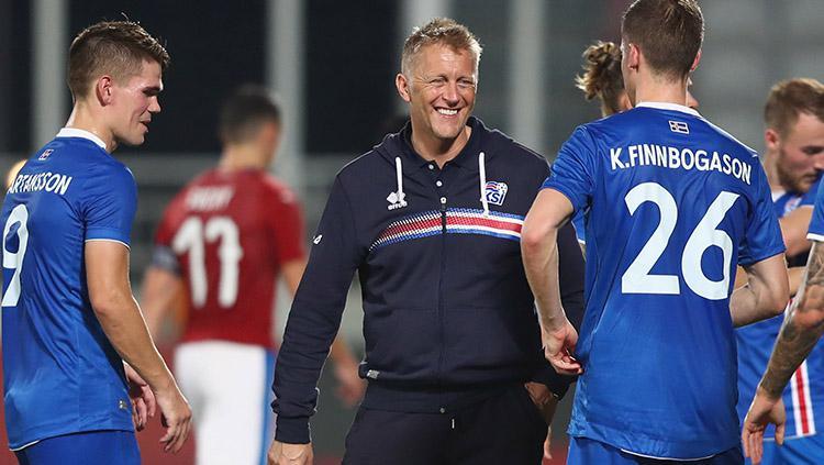 Pelatih Timnas Islandia, Heimir Hallgrimsson. Copyright: INDOSPORT