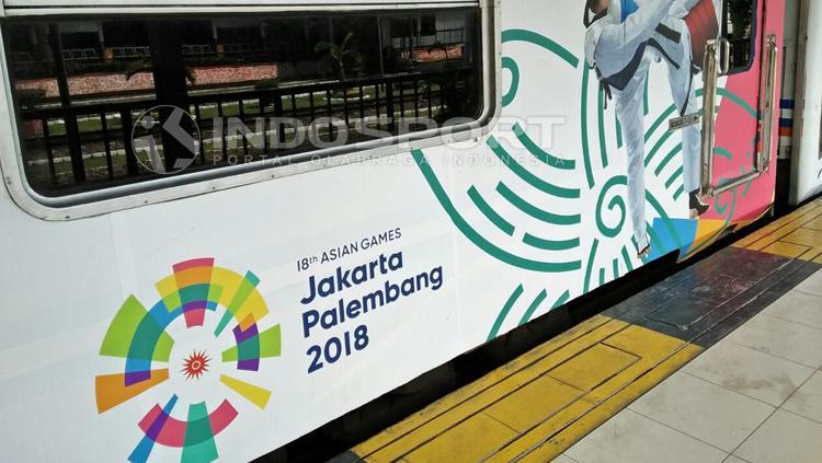 Tampilan kereta api jelang Asian Games 2018. Copyright: Galih Prasetyo/INDOSPORT