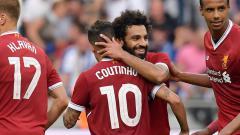 Indosport - Philippe Coutinho dan Mohamed Salah.