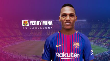 Yerry Mina resmi berseragam Barcelona. - INDOSPORT
