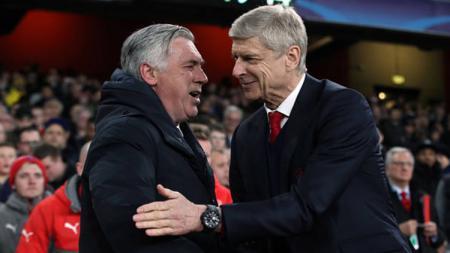 Ancelotti dan Wenger. - INDOSPORT