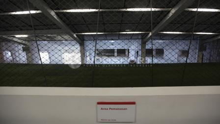 Kondisi terbaru area pemanasan para pemain. Herry Ibrahim