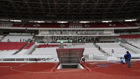 Kondisi terkini tribun penonton di stadion Gelora Bung Karno. Herry Ibrahim