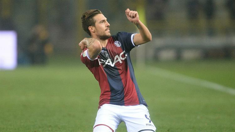 Simone Verdi merayakan golnya untuk Bologna Copyright: INTERNET