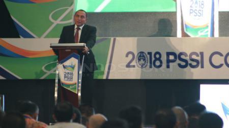 Edy Rahmayadi saat membuka Kongres PSSI - INDOSPORT