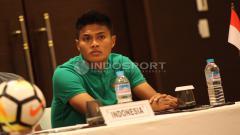 Indosport - Fachrudin Aryanto saat menghadiri konferensi pers jelang Indonesia vs Islandia