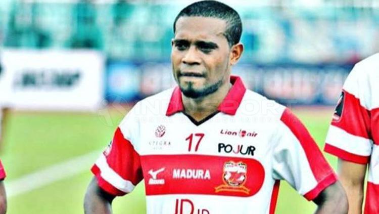 Elthon Maran, saat masih membela Madura United Copyright: Taufik Hidayat/INDOSPORT