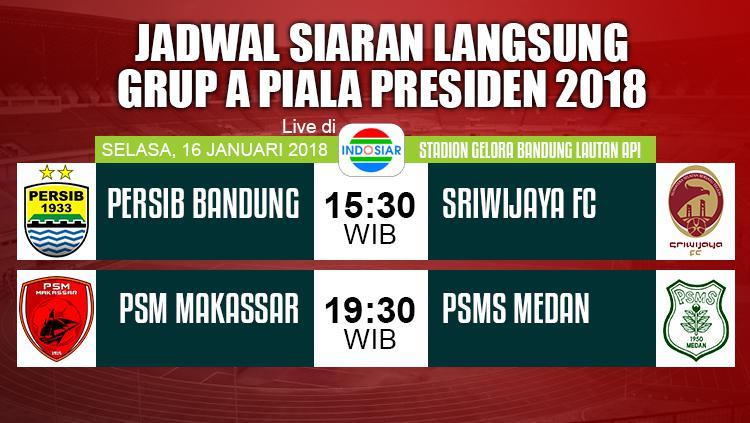 Jadwal Pembukaan Piala Presiden 2018. Copyright: Grafis: Eli Suhaeli/INDOSPORT