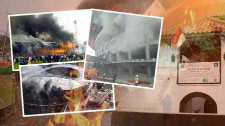 Deretan stadion yang pernah mengalami kebakaran. Salah satunya berada di Indonesia. - INDOSPORT