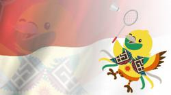 Bhin Bhin maskot Bulutangkis Asian Games 2018.