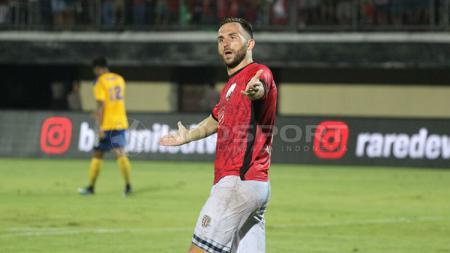 Ilija Spasojevic saat terjun membela Bali United di Kualifikasi Liga Champions 2018. - INDOSPORT