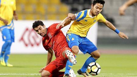 Andri Syahputra saat berlaga untuk Al Gharafa U-23. - INDOSPORT