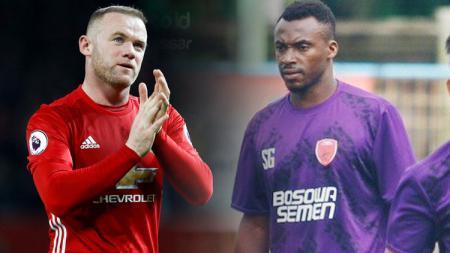 Guy Junior dan Wayne Rooney. - INDOSPORT