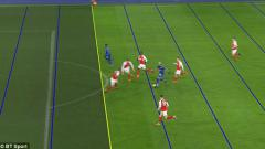 Indosport - Kelechi Iheanacho saat cetak gol dibantu VAR.