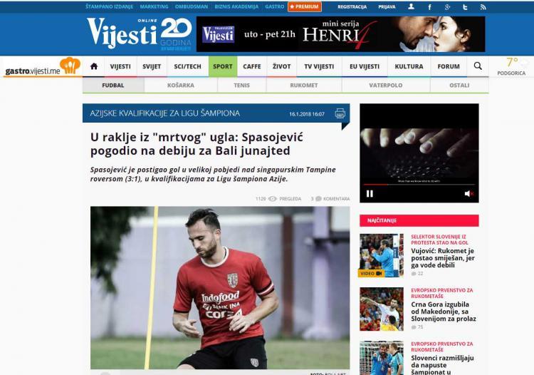 Spasojevic disorot media Kroasia Copyright: gastro.vijesti.me