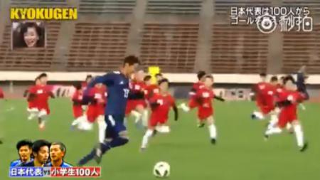Acara reality show lucu di Jepang, 3 pesepakbola profesional melawan 100 anak kecil - INDOSPORT