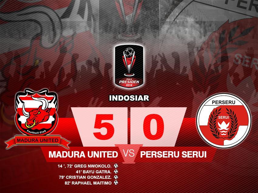 Madura United vs Perseru Serui Copyright: Gafis:Yanto/Indosport.com