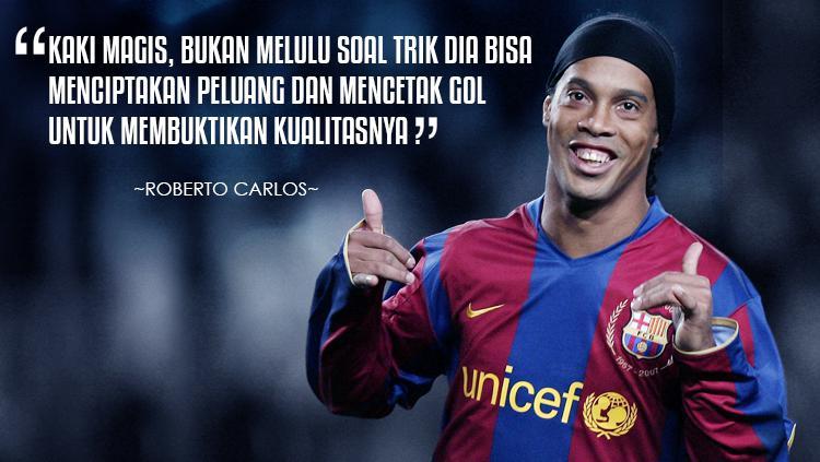 10 Kutipan Bintang Sepakbola Dunia Tentang Ronaldinho