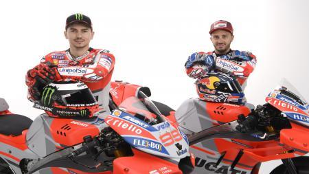 Lorenzo dan Dovizioso dengan motor Desmosedici GP18 - INDOSPORT