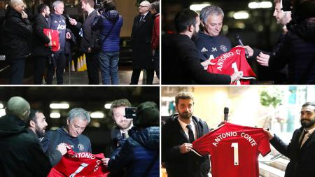 Jose Mourinho saat dikerjai presenter Italia. - INDOSPORT