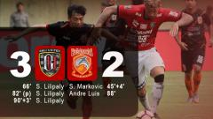 Indosport - Hasil pertandingan Bali United vs Borneo FC.