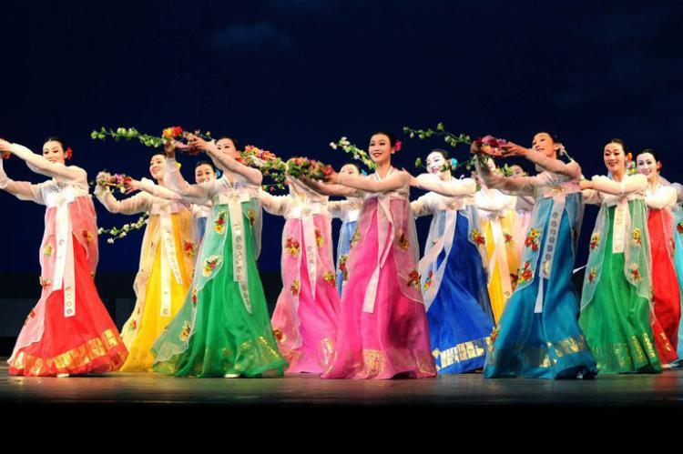 Samjiyon Band, grup orkestra Korea Utara. Copyright: -