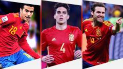 Indosport - Pedro, Marc Bartra, dan Juan Mata mungkin tidak dibawa ke Piala Dunia 2018.